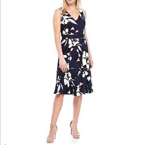 Vince Camuto Sleeveless Floral Flounce Dress, 8